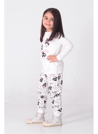 Silversun Kids Kız Çocuk Baskılı Pijama Takım - !Pjm 212905 Ekru